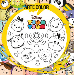 Arte Color. Tsum Tsum - Disney   Planeta de Libros
